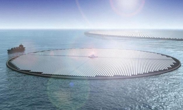 The Netherlands builds the world's first floating solar power station on the sea